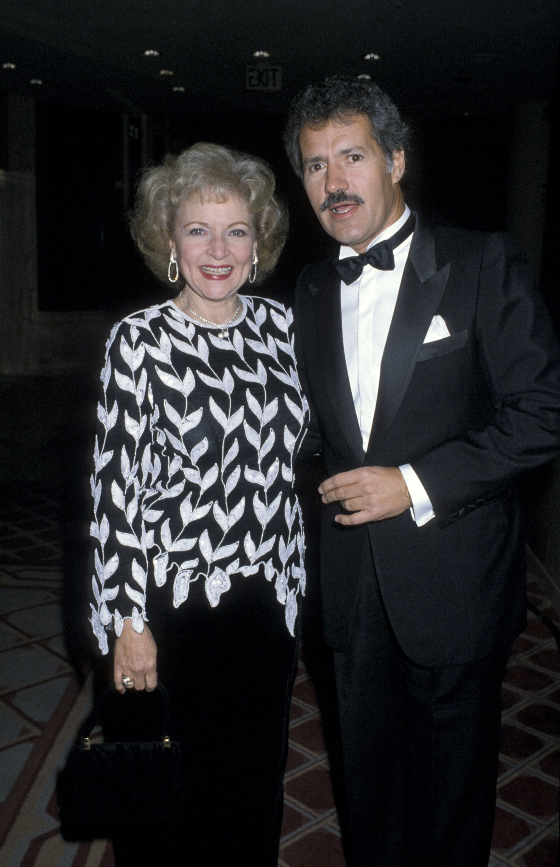 "Alex Trebek with possible ""Jeopardy!"" successor Betty White."