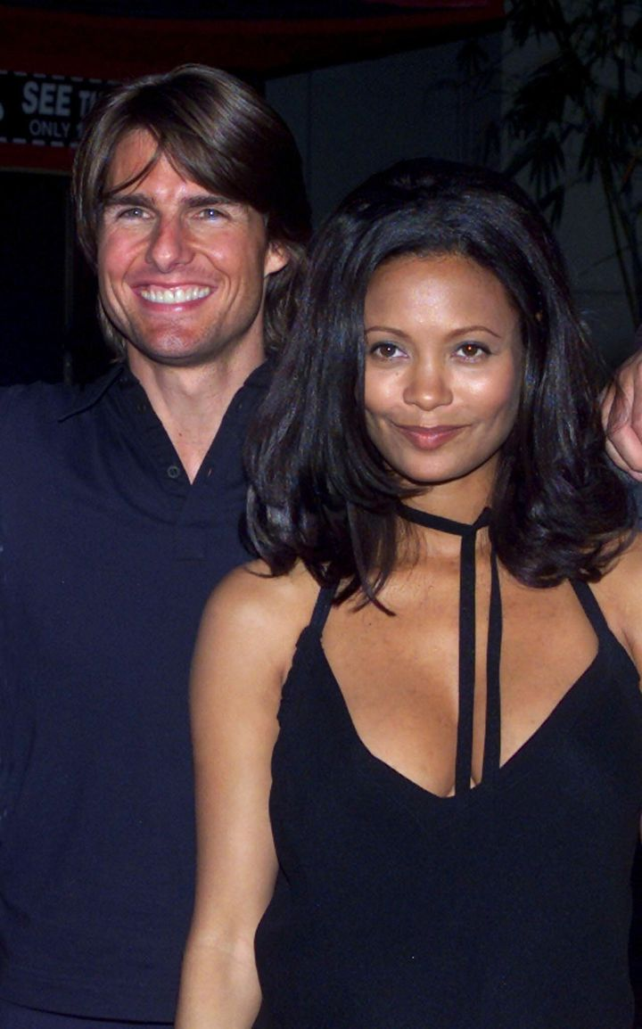 """Tom Cruise and Thandie Newton were all smiles at the """"Mission: Impossible 2"""" premiere in 2000, but this month Newton describe"""