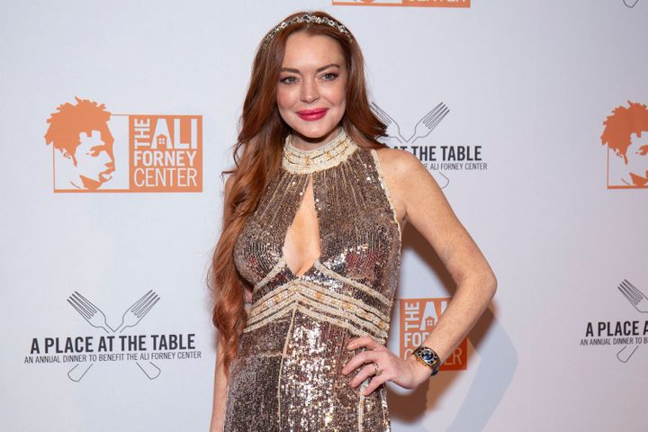 Lindsay Lohan attends the 2019 Ali Forney Center Gala.