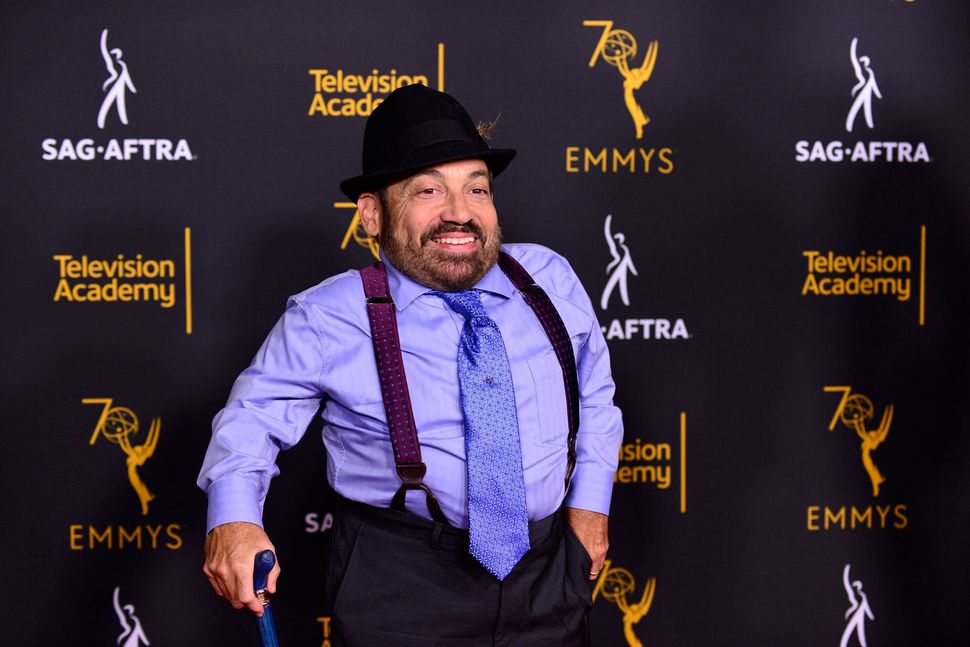 Danny Woodburn attends a Television Academy and SAG-AFTRA event in North Hollywood on Sept. 11, 2018.