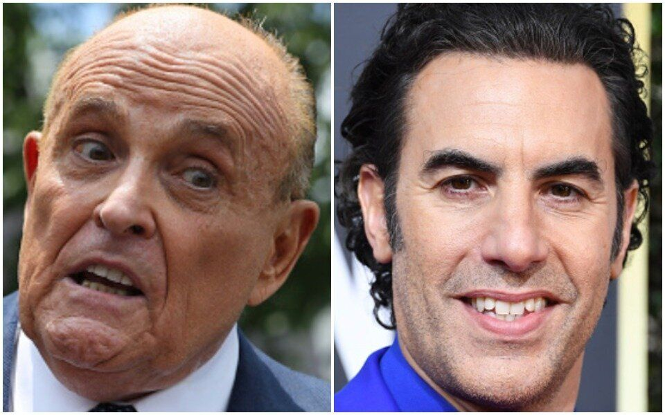 Rudy Giuliani realized later he had been pranked by Sacha Baron Cohen in a pretend interview that quickly went off the rails.