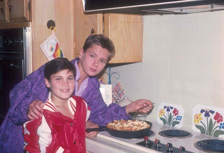 Joaquin and River Phoenix pictured together as children in 1985.