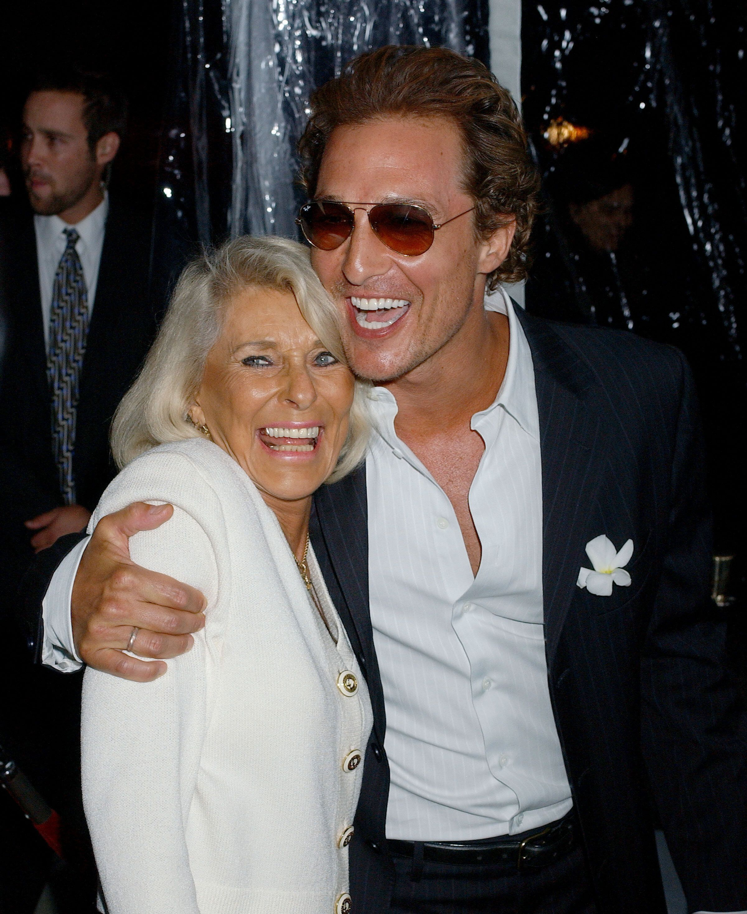 Matthew McConaughey with his mother, Kay.