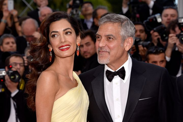 "George and Amal Clooney attend the ""Money Monster"" premiere during the 69th annual Cannes Film Festival on May 12, 2016.&nbsp"