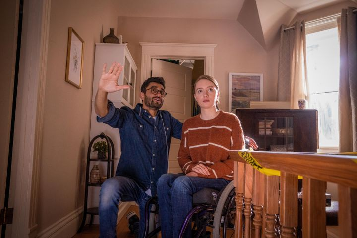 """Director Aneesh Chaganty (left): """"To say a disabled character has to be played by a disabled actor [is] a very, very simple m"""