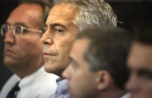 Epstein appears in court