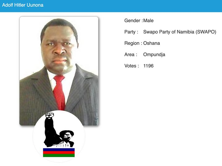Uunona's profile on Namibia's official elections website.