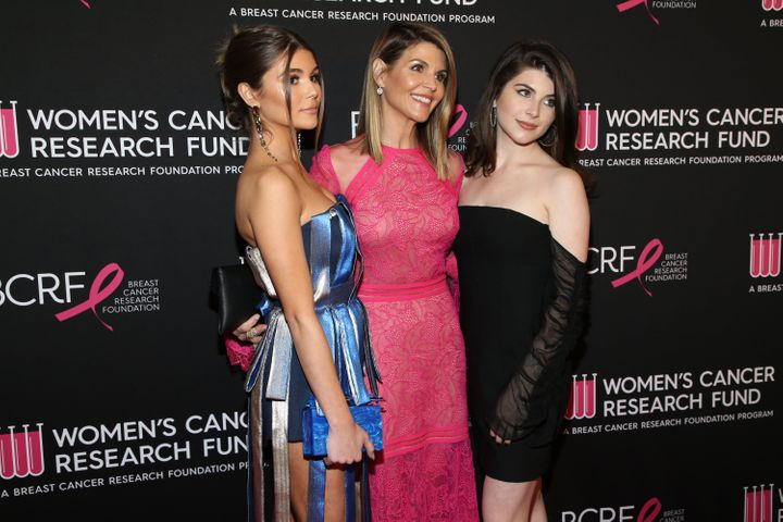 Olivia Jade Giannulli, Lori Loughlin and Isabella Rose Giannulli pictured together in Feburary 2019.