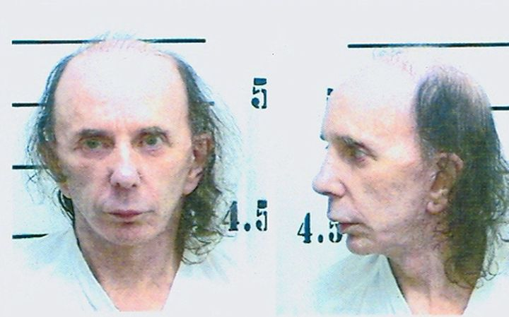 Spector in his mugshot photo on June 5, 2009, after being found guilty of murderingLana Clarkson.
