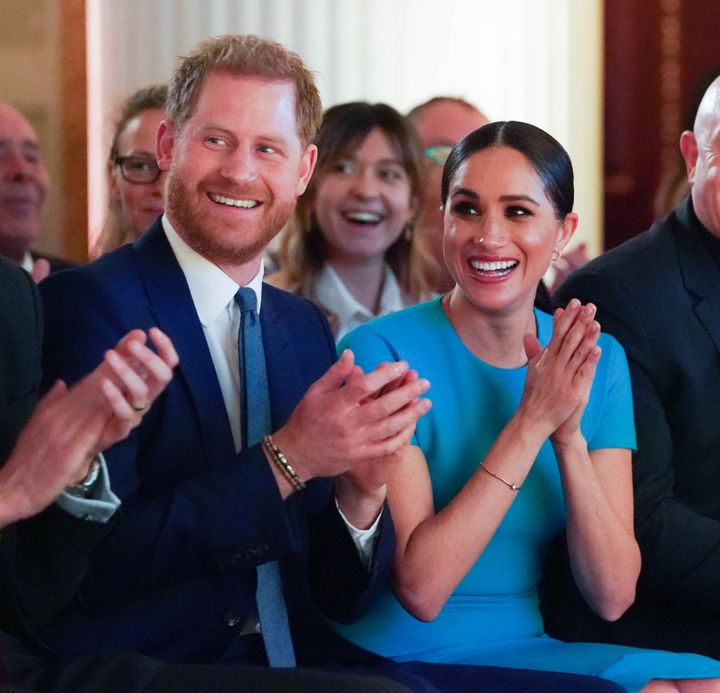 Harry and Meghan at the annual Endeavour Fund Awards in London on March 5, 2020.
