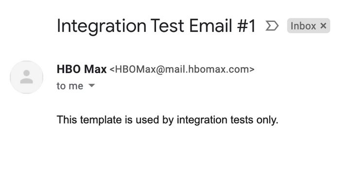 A screenshot of the email HBO Max mistakenly sent out.