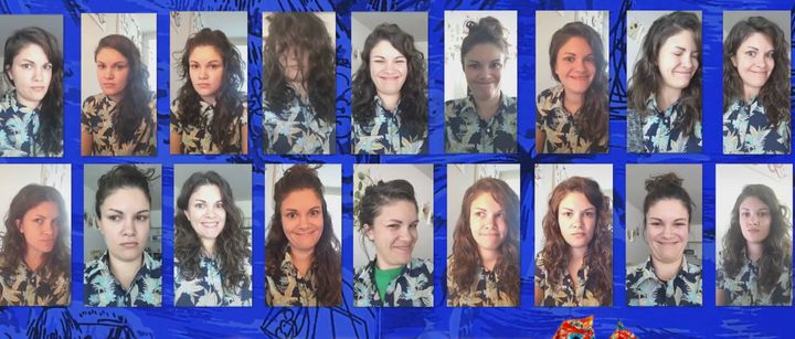 This woman wore the same Hawaiian shirt to 264 Zoom meetings with co-workers, she told InsideEdition.