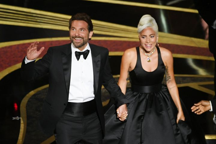 Bradley Cooper and Lady Gaga perform onstage during the 91st Annual Academy Awards.