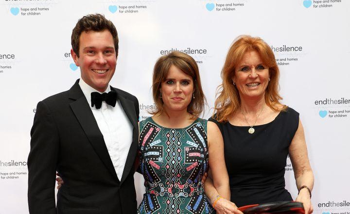 """Princess Eugenie, Jack Brooksbank and Sarah Ferguson attend the 50th anniversary of the Beatles' """"Sgt. Pepper's Lonely Hearts"""